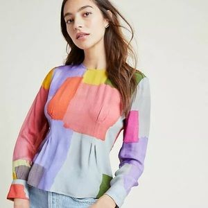 Anthropologie Pastel Blouse by Conditions Apply